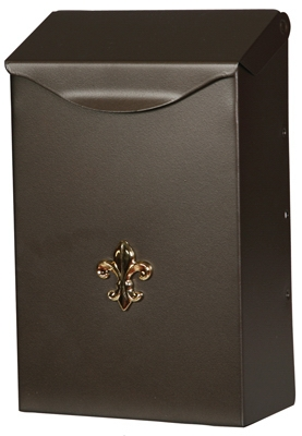 Mailbox, Wall-Mount, Steel With Venetian Bronze Finish, 3.2 x 6.2 x 1-In.