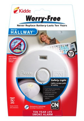 Worry-Free Hallway Smoke Alarm With Safety Light