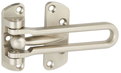 Door Security Guard, Satin Nickel