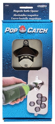 Pop N' Catch Magnetic Bottle Opener, 5 x 10.5-In.