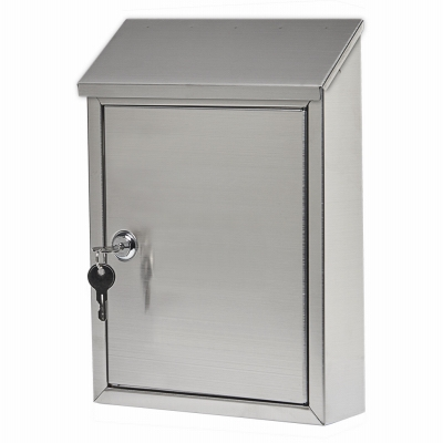 Ashley Wall Mailbox, Locking, Stainless Steel