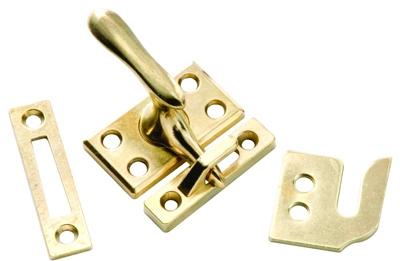 Casement Window Lock, Polished Brass