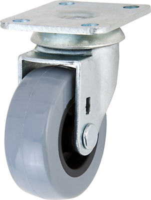 TPU Swivel Caster, 2-In.