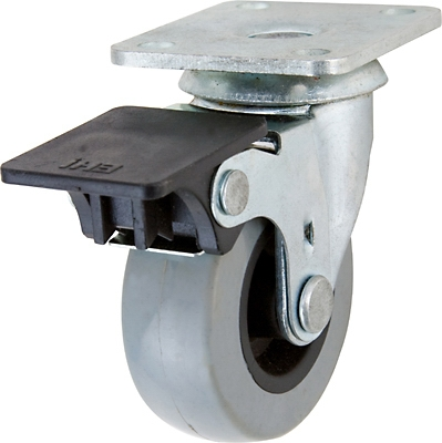 TPU Swivel Caster With Brake, 2-In.