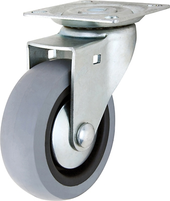 TPR Swivel Caster, 3-In.