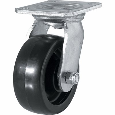 Swivel Plate Caster, 5-In.