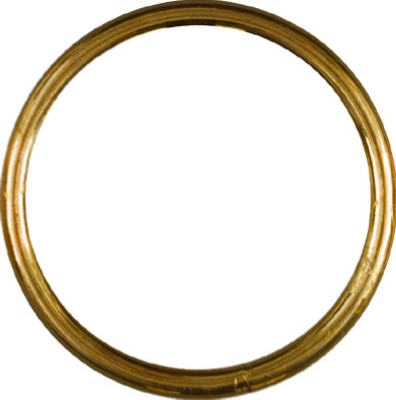 Solid Brass Ring, 1-In.