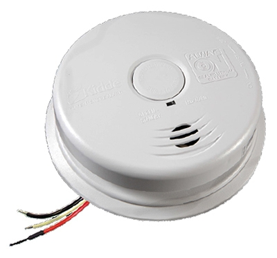 Combination Smoke and Carbon Monoxide Alarm, AC/DC Powered, 10-Year Worry Free