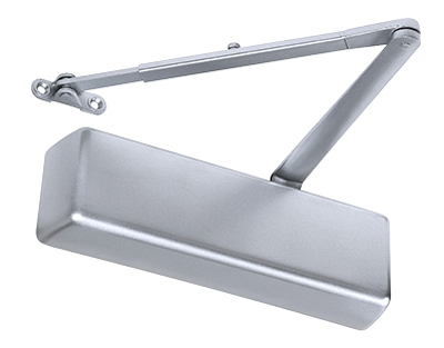 12916 Commercial Door Closer, Aluminum Finish, Adjustable Size 1-6