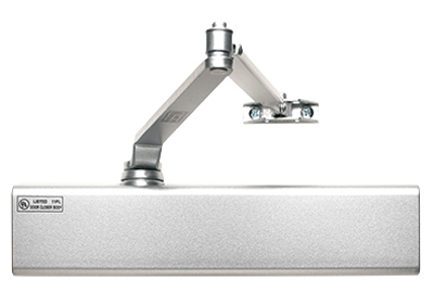 12816 Commercial Door Closer, Aluminum Finish, Adjustable Size 1-6