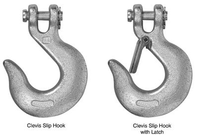 Clevis Slip Hook with Latch, .25-In