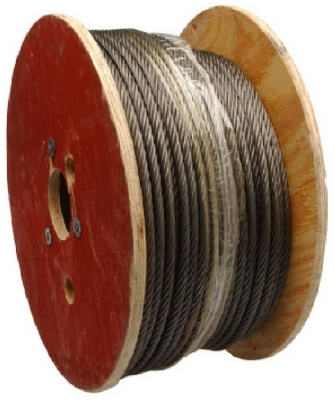 Wire Rope, Fiber Core, Steel, 1/2-In. x 250-Ft.
