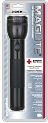Incandescent Flashlight, 27-Lumens, Black Aluminum