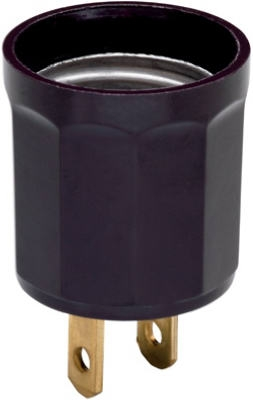 660-Watt Brown Outlet To Lampholder Adapter