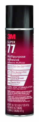 Supper 77 Spray Adhesive, Multi-Purpose, 16.7-oz