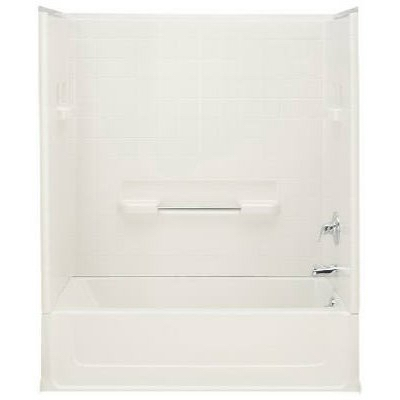 Bathtub, Left Drain, White Swirl Gloss, 5-Ft. x 15 x 30.5-In.
