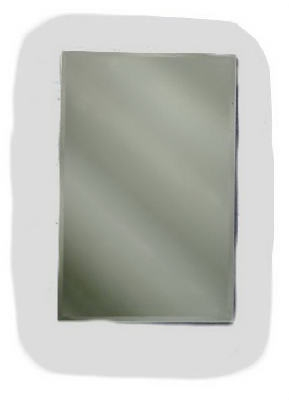 Medicine Cabinet, Frameless, Beveled Mirror, Swing-Door
