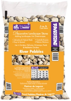 Decorative Landscape River Pebbles, .5-Cu. Ft.