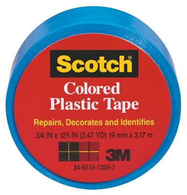 3/4 x 125-Inch Red Plastic Tape