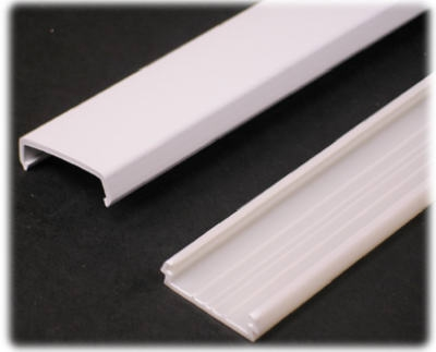5-Ft. White Plastic Wire Channel