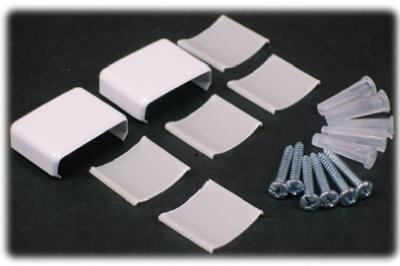 7-Piece White Coupler & Wiremolder Accessory Pack