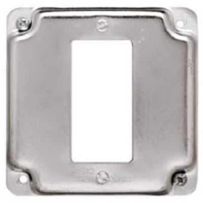 4-Inch Flat Corner Square Single GFI Receptacle Box Cover