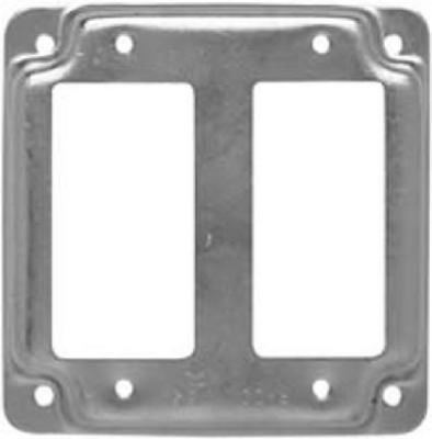 4-Inch Flat Corner Square Double GFI Receptacle Box Cover