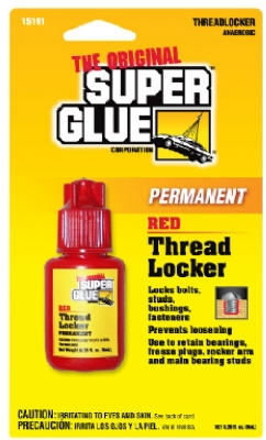 Thread Locker, Red, 6-ml.