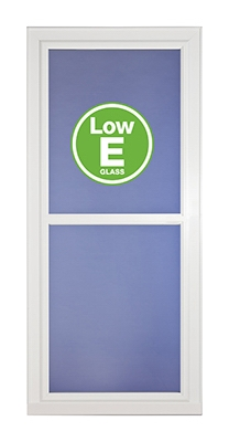 Easy Vent Selection Storm Door, Full-View Low E Glass, White, 36 x 81-In.