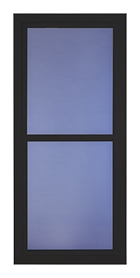 Easy Vent Selection Storm Door, Full-View Glass, Black, 36 x 81-In.