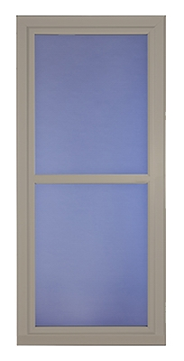 Easy Vent Selection Storm Door, Full-View Glass, Sandstone, 36 x 81-In.