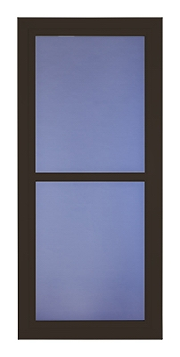 Easy Vent Selection Storm Door, Full-View Glass, Brown, 36 x 81-In.