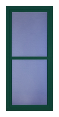 Easy Vent Selection Storm Door, Full-View Glass, Green, 36 x 81-In.