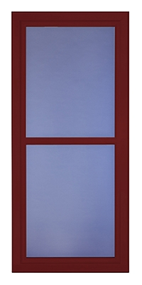Easy Vent Selection Storm Door, Full-View Glass, Cranberry, 36 x 81-In.