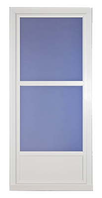 Easy Vent Selection Storm Door, Mid-View Glass, White, 36 x 81-In.