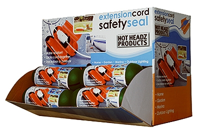 Extension Cord Safety Seal Lock, Orange