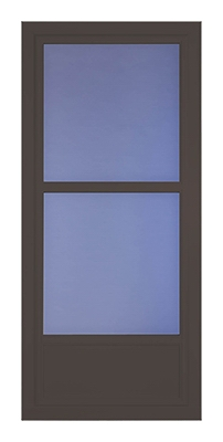 Easy Vent Selection Storm Door, Mid-View Glass, Brown, 36 x 81-In.