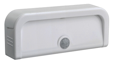 LED Motion-Sensing Light, Adhesive, 20 Lumens, White