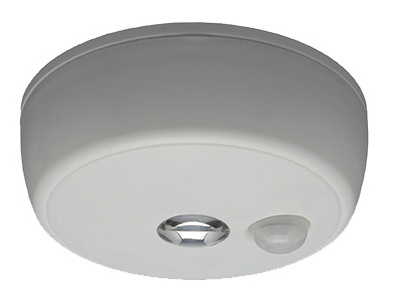 LED Motion-Sensing Ceiling Light, Wireless, 100 Lumens