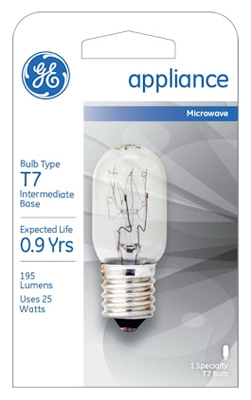 25-Watt Clear Tube Appliance Light Bulb