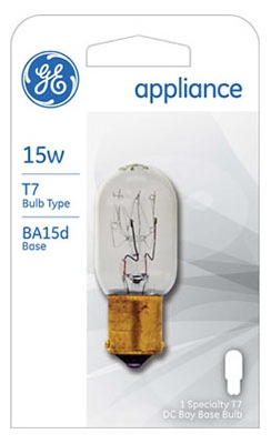 15-Watt Clear Appliance Bulb
