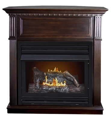 Early American Gas Fireplace, Vent-Free, Dual Fuel, 27,500-BTU