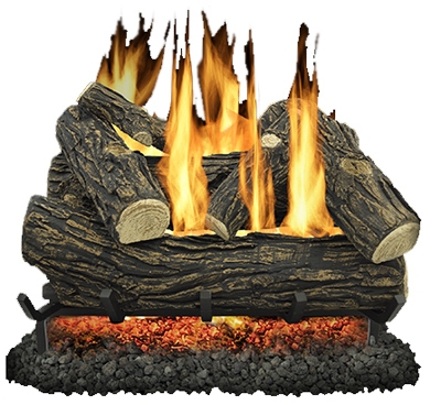 Fireplace Log Set, Vented, 55,000-BTU, 24-In.