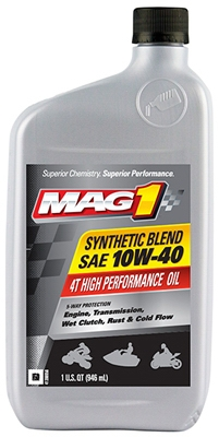 ATV Synthetic Engine Oil, 10W40, 1-Qt.