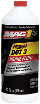 Dot 3 Premium Brake Fluid, 1-Qt.