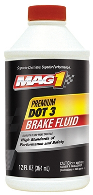 Dot 3 Premium Brake Fluid, 12-oz.