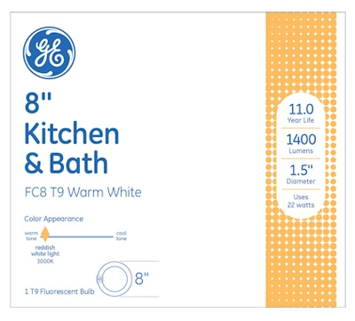 22-Watt Circline Kitchen/Bath Appliance Fluorescent Light Bulb