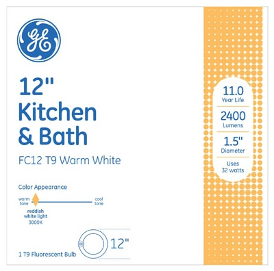 32-Watt Circline Kitchen/Bath Appliance Fluorescent Light Bulb