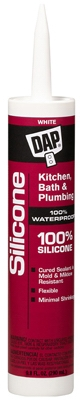 Kitchen & Bath Silicone Sealant, White, 9.8-oz.