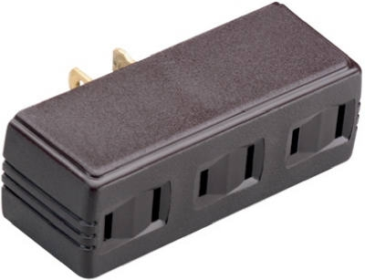 15A Single-To-Triple Plug In Adapter